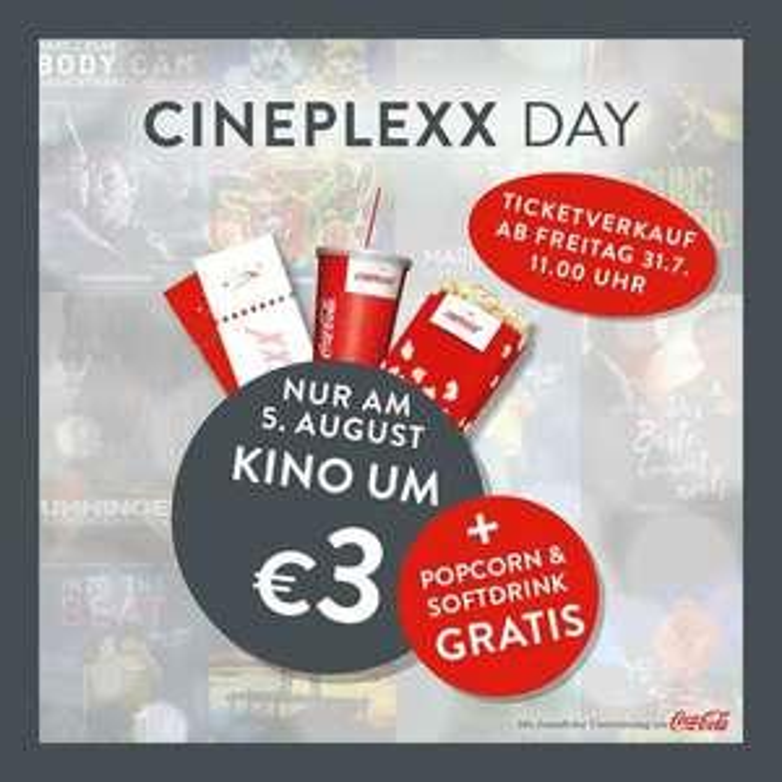 Cineplexx Kino + Popcorn Medium + Softdrink 0,5