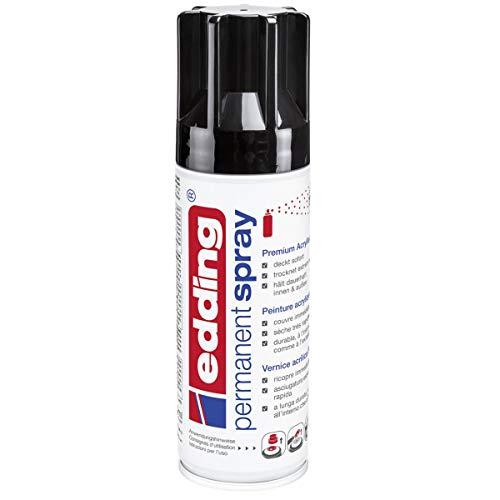 edding 5200 Permanent-Spray 200 ml - tief-schwarz glänzend ODER puderpfirsich um 4,94