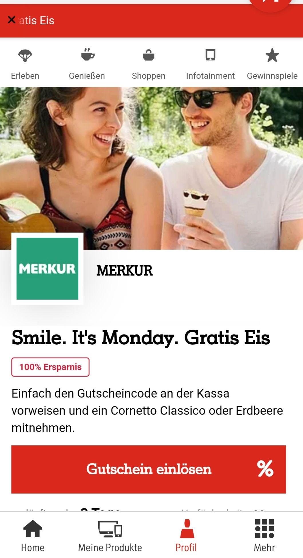 Mit A1 Smile 1 Cornetto Gratis!