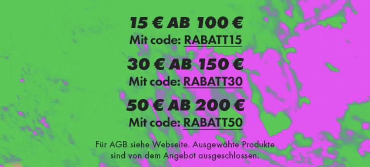 Asos 15€,30€,50€ Rabatt