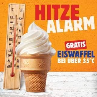 Burger King: gratis Eis ab 35°C