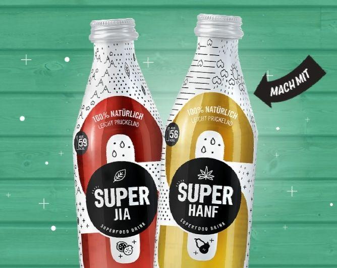Superfood-Drinks GRATIS durch Cashback (max. 5 Flaschen)