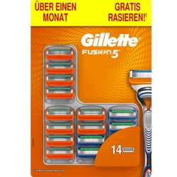 Gilette Fusion 5 Rasierklingen 14er Pack