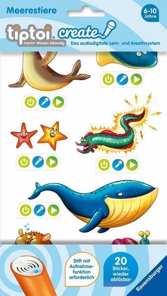 Tiptoi CREATE Sticker Meerestiere oder Lustige Tiere