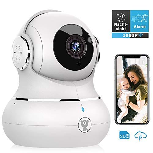 Littlelf WIFI Überwachungskamera 1080P HD, 360°Schwenkbar mit Alexa Unterstützung