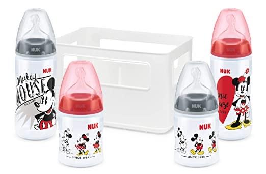 NUK Disney Micky Mouse First Choice + Babyflaschen Starter Set mit 4 Flaschen