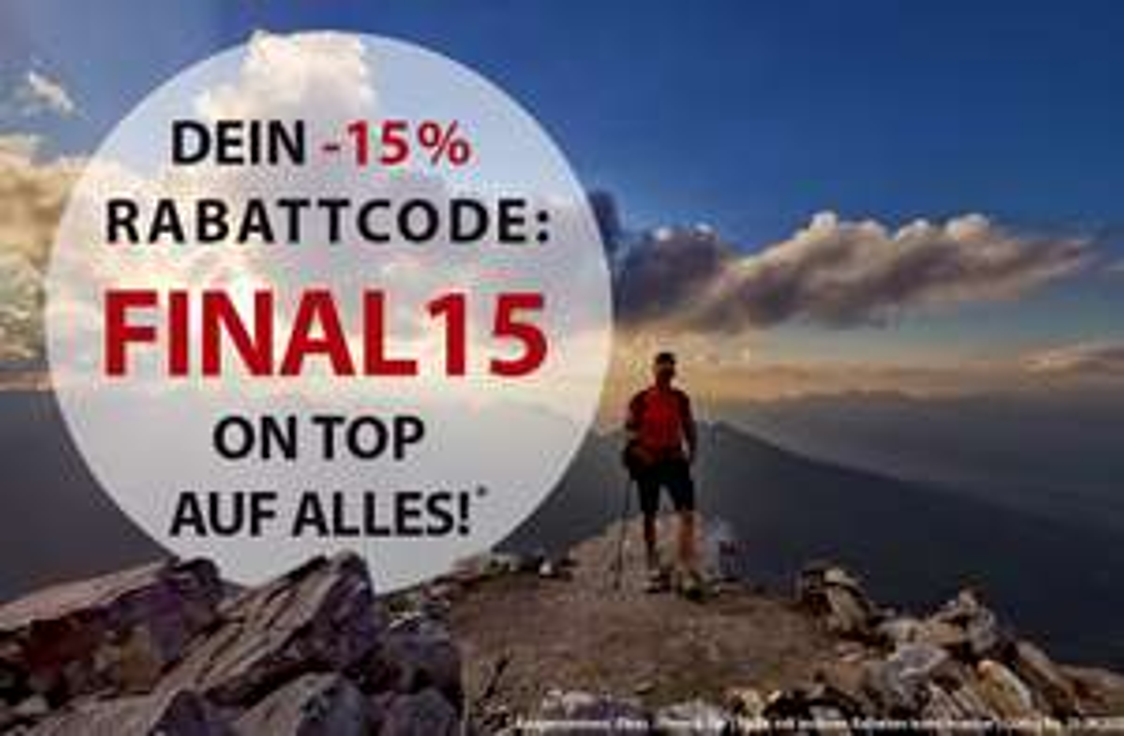 Sportokay: 15% Rabatt auf alles!