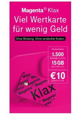 Pagro: 10€ Magenta Wertkarte um 5€