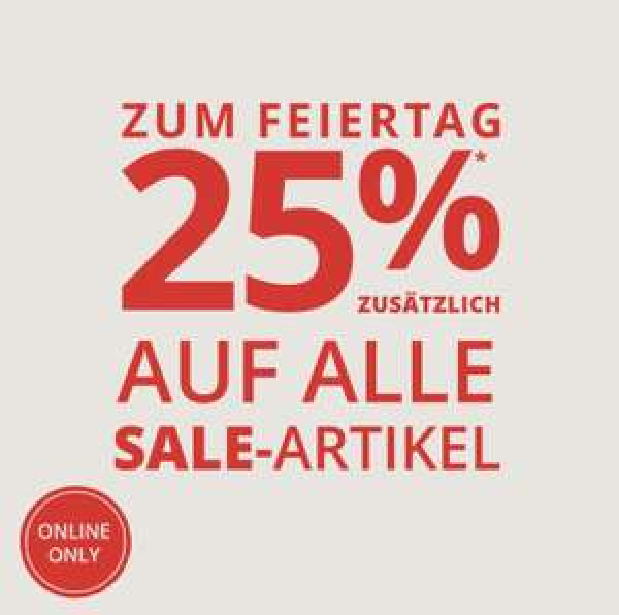 Peek & Cloppenburg: 25% Extra-Rabatt auf Sale-Artikel
