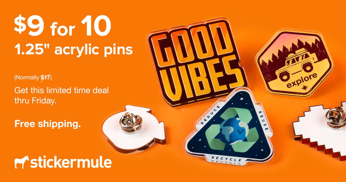 [Sticker Mule] Acryl Pins