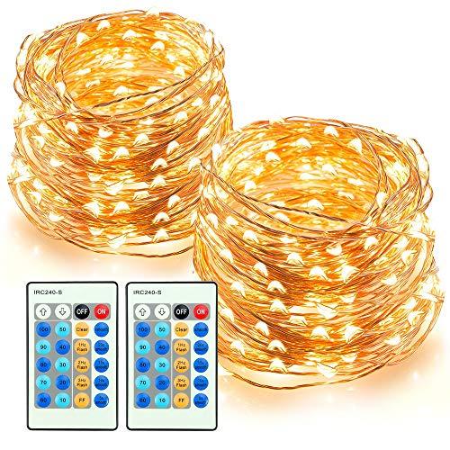 TaoTronics LED-Drahtlichterkette 2er Pack (2x 200LED, 20m + Fernbedienung)