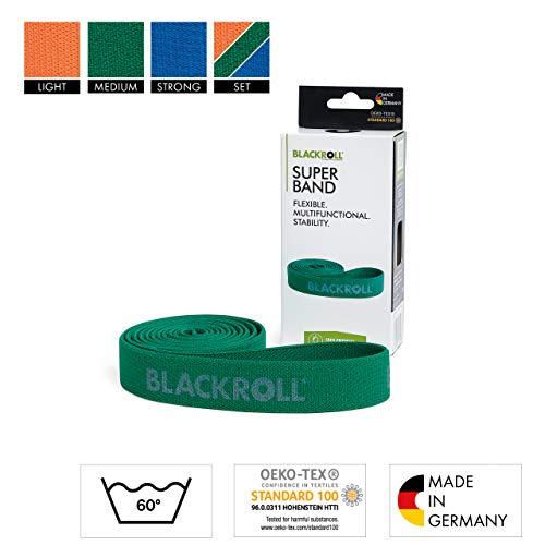BLACKROLL® SUPER Band: orange (leicht), grün (mittel) oder blau (stark)