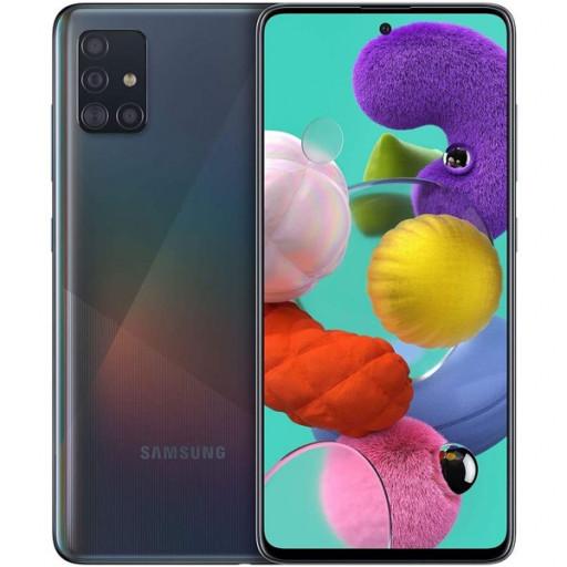 Samsung Galaxy A51 schwarz um EUR 249 bei Libro