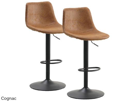 2x Leder Barhocker (2 Designs, 3 Farben)