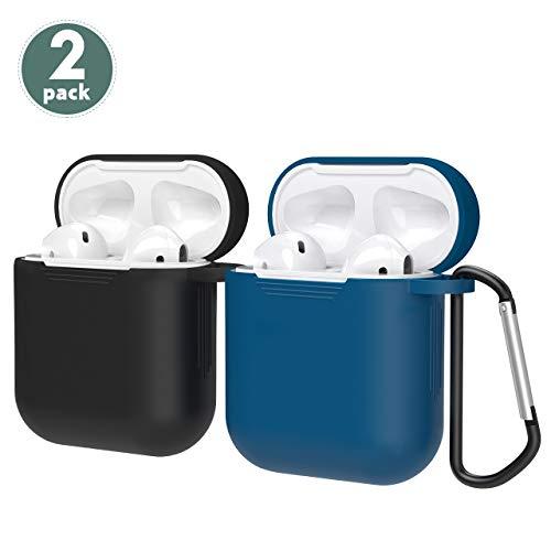 Mpow 2er Pack Silikon-Schutzhülle für AirPods-Ladehülle