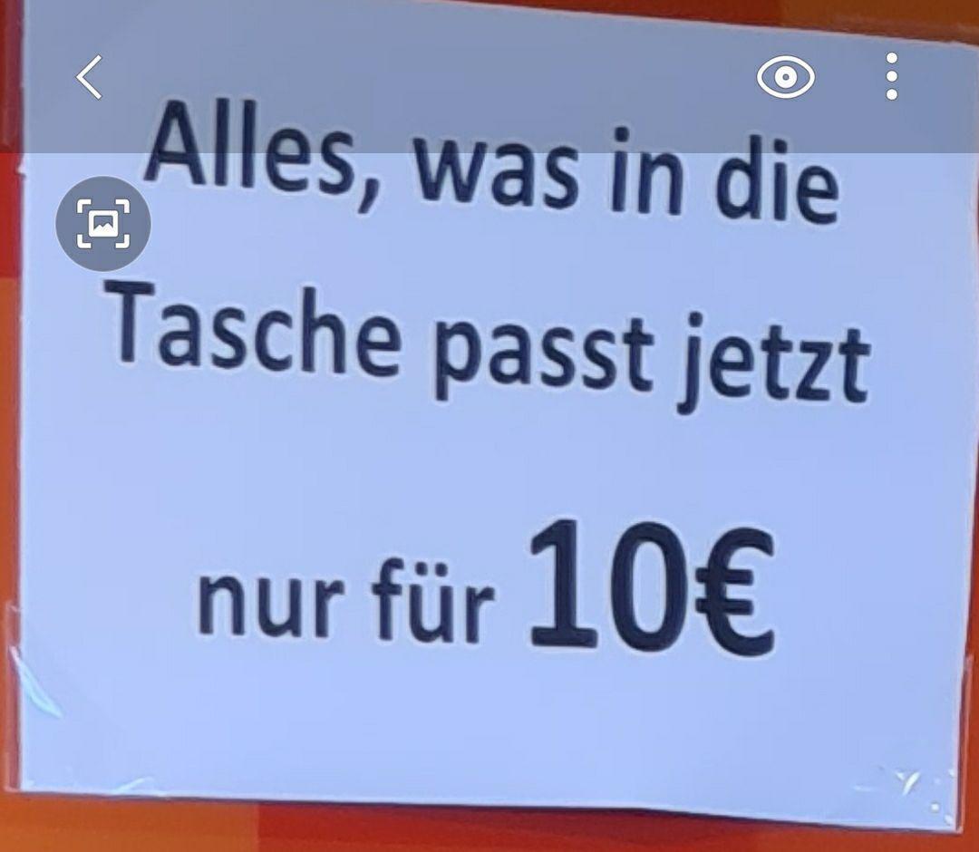 Depot: 10eur für 1 volle Tasche (lokal in Kittsee?)