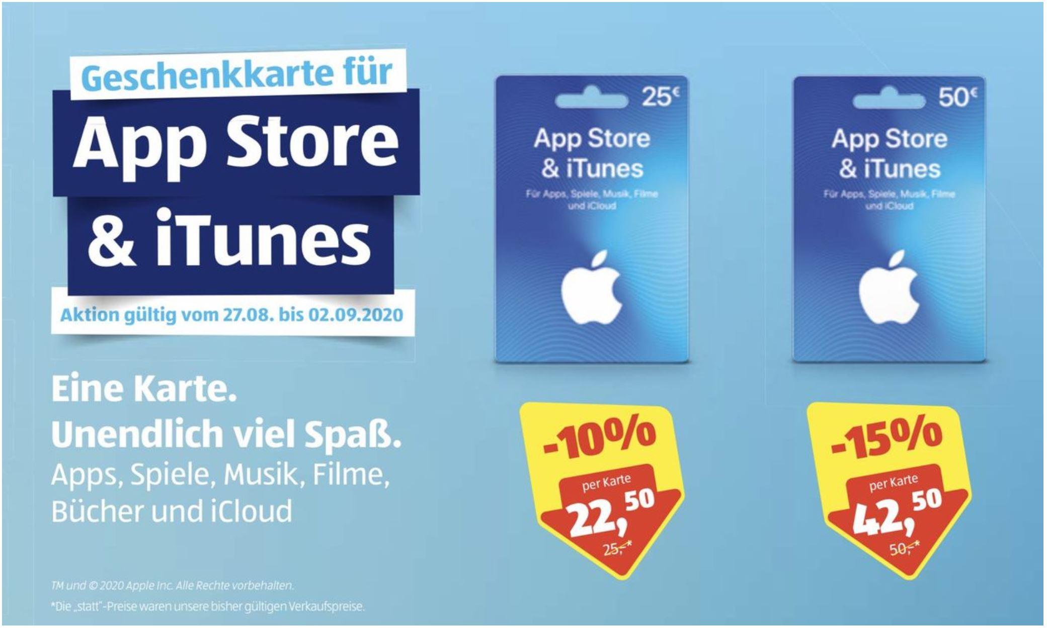 Hofer / App Store & iTunes-Geschenkkarte 15% Rabatt