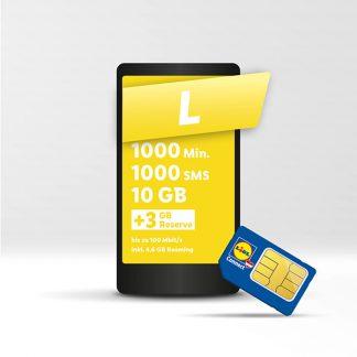 Lidl Connect Tarif L um € 8,50 statt um € 9,50