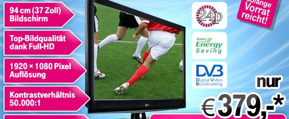 """37"""" FullHD TV LG 37LH3800 für 364€"""