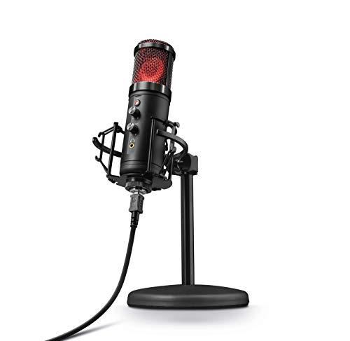 Trust GXT 256 Exxo - USB Kondensator Mikrofon mit Ständer und Kopfhöreranschluss