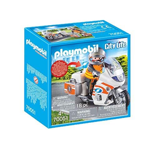 Preisjäger Junior: Playmobil City Life Notarzt-Motorrad mit Blinklicht