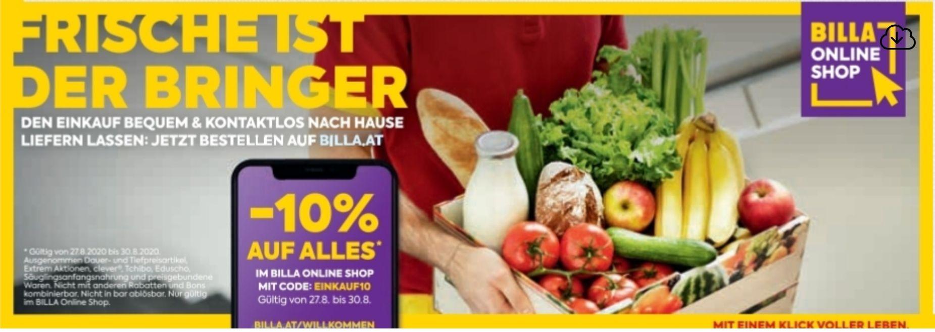 -10% Im BILLA Online Shop