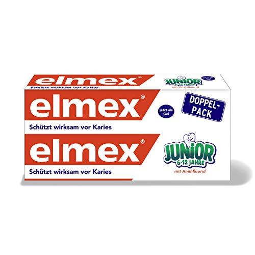 elmex JUNIOR Zahnpasta, 6-12 Jahre, Doppelpack, 2x75 ml