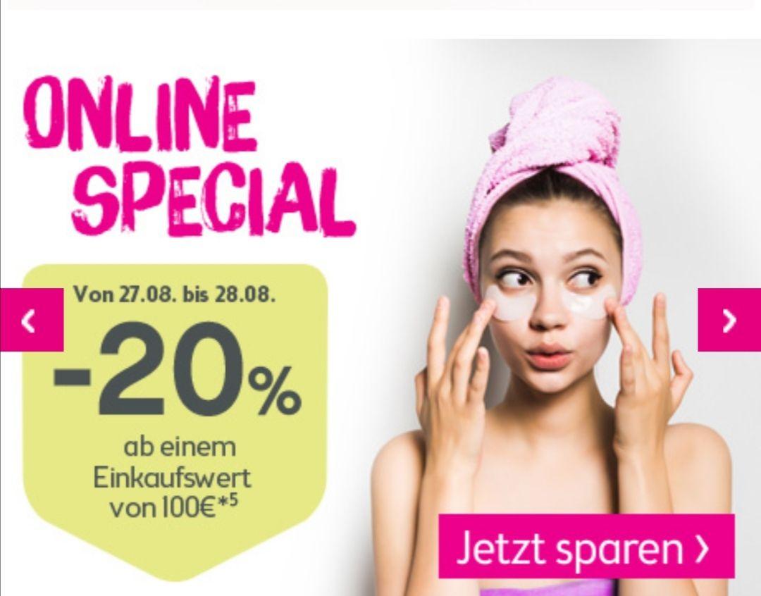 -20% ab 100€ Einkaufswert [Bipa Online Shop]