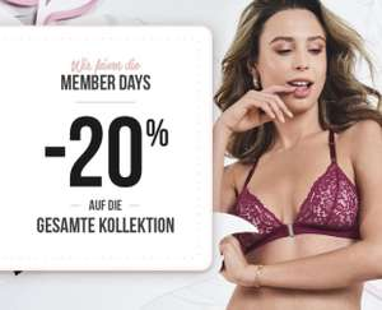 Hunkemöller: 20% Rabatt auf alles für Member