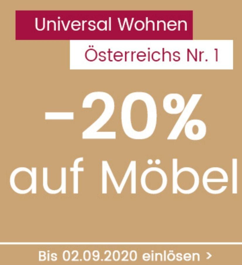 UNIVERSAL -20% auf Möbel