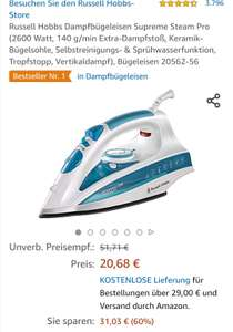 Amazon Russell Hobbs Dampfbügeleisen Supreme Steam Pro