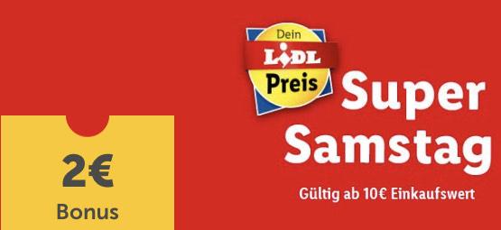 € 2,— Gutschein für ALLE Lidl-Plus-App-User