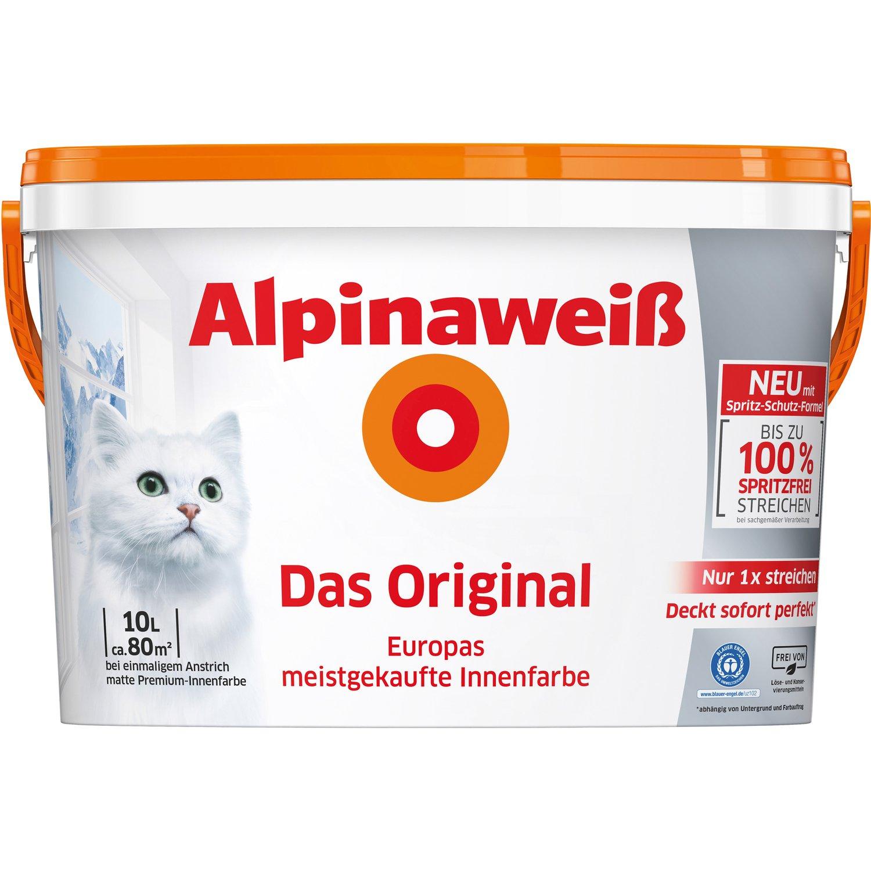 Alpina Alpinaweiß Wandfarbe 10l ! Ab 26,50€ pro Stk. beim Kauf von 2