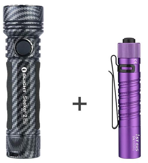 Olight Taschenlampen Special: z.B. Seeker 2 Pro + I5T um 128,61€
