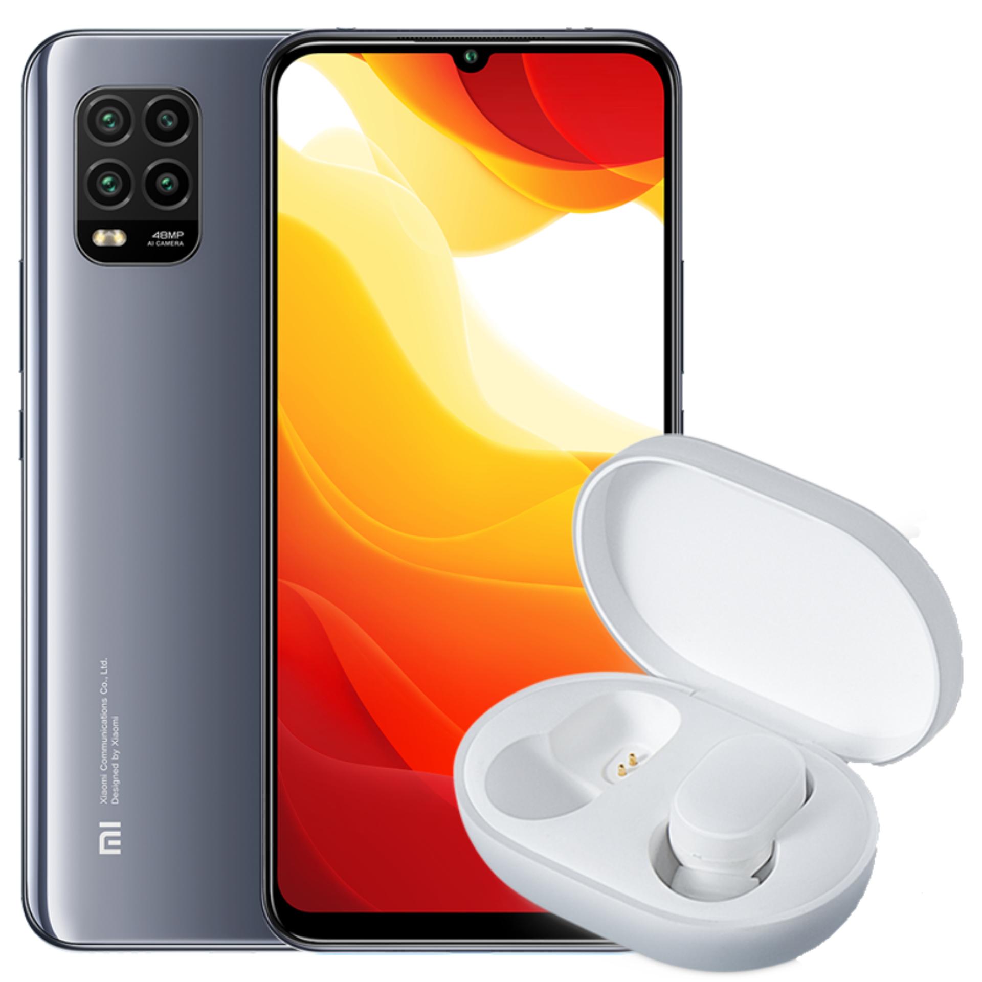 Xiaomi Mi 10 Lite 128/6GB + Mi AirDots Kopfhörer (FHD+ Amoled, 48MP Quad Kamera, Snapdragon 765G, NFC: Google Pay, 4160mAh Akku)