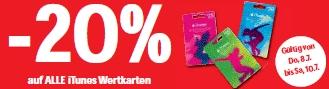 -20% auf iTunes Karten @Interspar