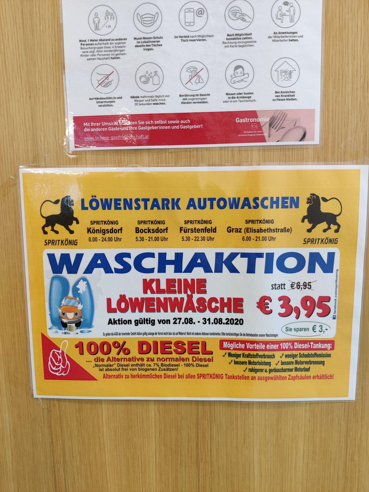 Günstigste Autowäsche in Graz, Bocksdorf, Fürstenfeld und Königsdorf