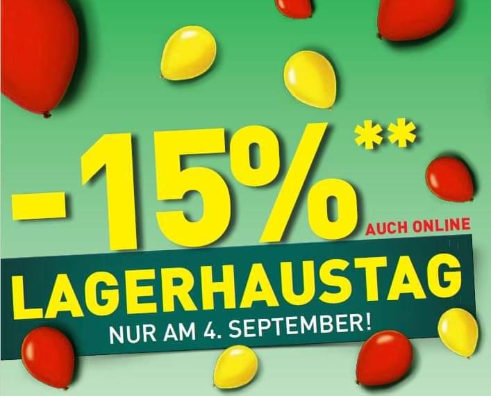 @Lagerhaus | -15% Rabatt auf vieles in den Lagerhaus Filialen und im Onlineshop