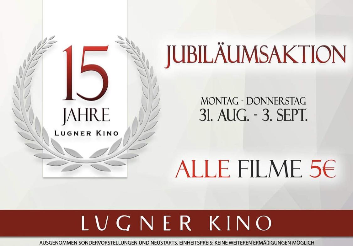 Lugner Kino - alle Filme um 5 € - bis 3.9.2020