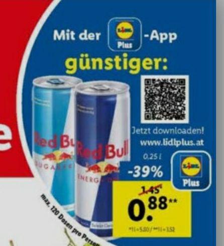 Red Bull 0,25l (Lidl App)