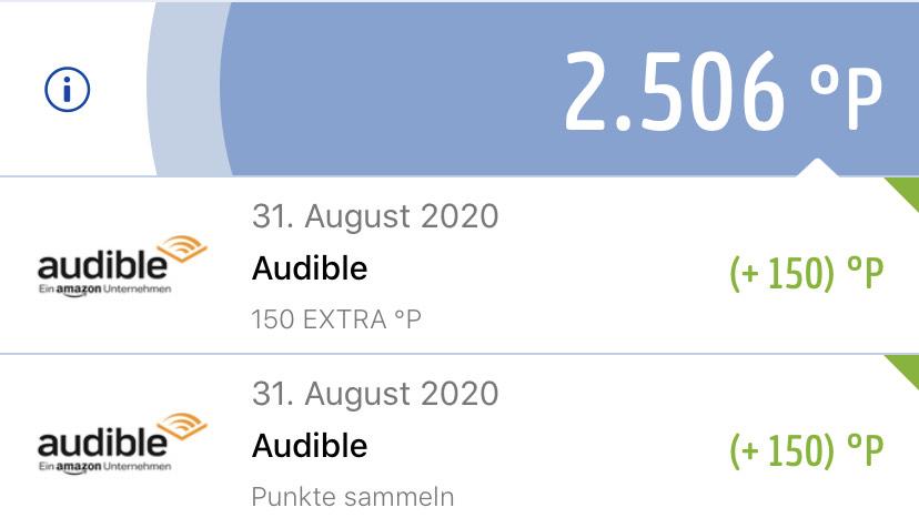 300 Payback Punkte beim abschluss eines Audible Abos (Auch Probeabo)