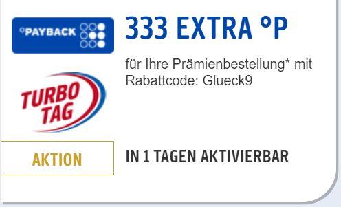 am 03.09.2020: 666 Payback-Punkte (333x2) bei Bestellungen im Prämien-Shop ab € 29,99