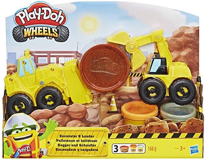 Play-Doh Wheels- Bagger und Schaufler Knete