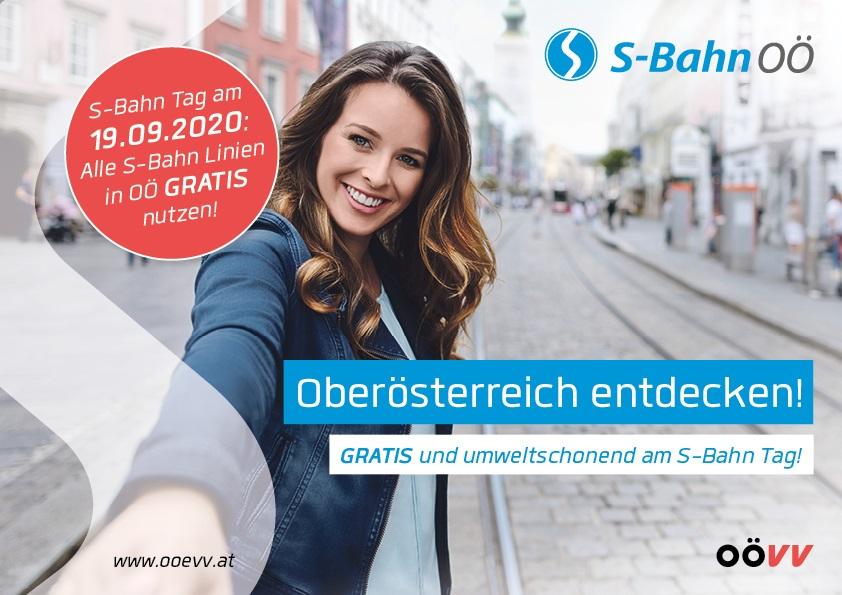 (Oberösterreich) unbegrenzt GRATIS S-Bahn fahren - am 19.9.2020