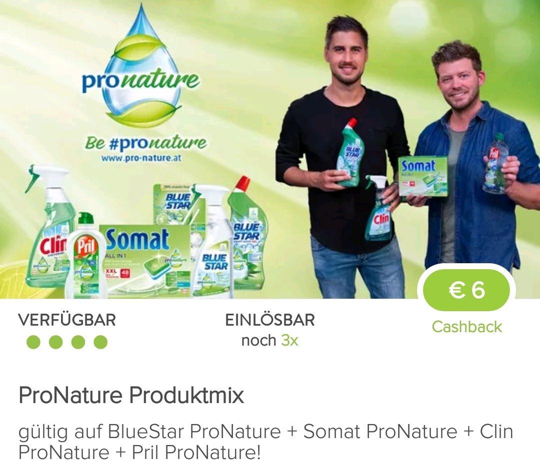 6€ Marktguru Cashback auf Henkel Pronature Produkte