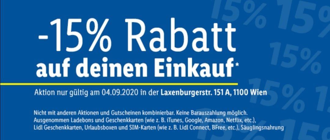 -15% bei Lidl Laxenburger Straße (& anderen Filialen)