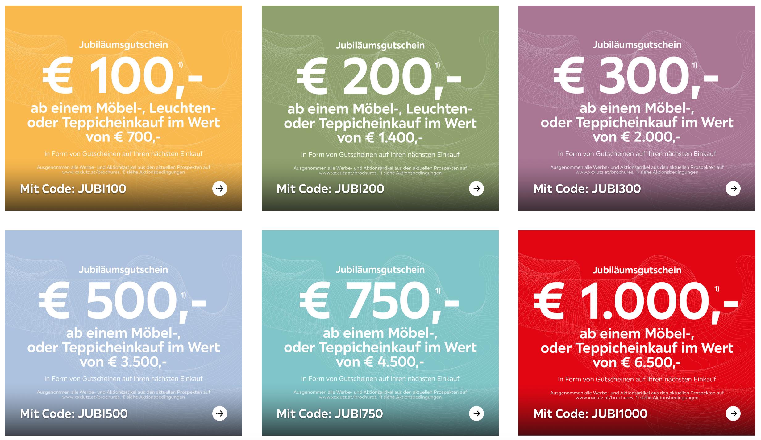 XXXLutz - neue Rabatt Gutscheine auf Möbeleinkäufe