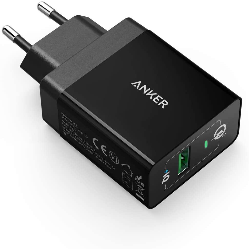 Anker PowerPort+1 18W USB Ladegerät mit Quick Charge 3.0 (Blitzangebot bis 23:30)