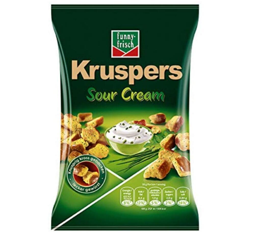 10x Funny-frisch Kruspers Sour Cream