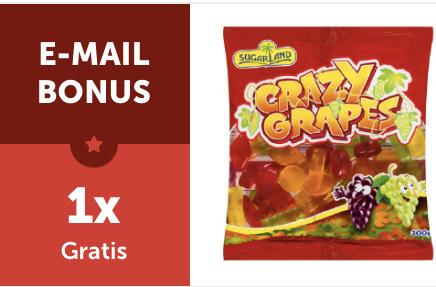 1 x gratis 300 Gr. Fruchtgummis für alle Newsletterabonnenten